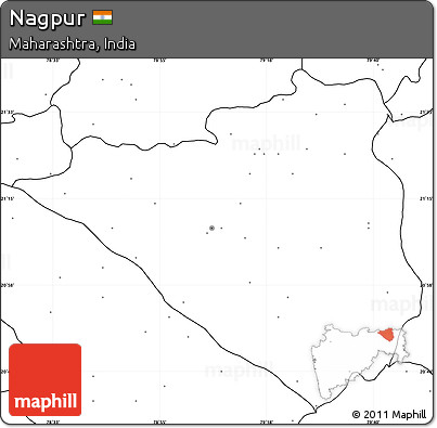 Free Blank Simple Map of Nagpur no labels