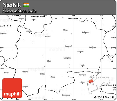 Free Blank Simple Map of Nashik