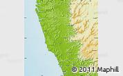 Physical Map of Sindhudurg