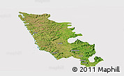 Satellite Panoramic Map of Sindhudurg, cropped outside