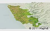 Satellite Panoramic Map of Sindhudurg, lighten