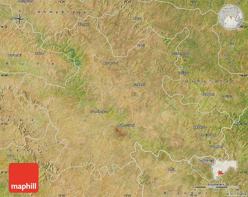 Solapur India  city photos : Satellite Map of Solapur