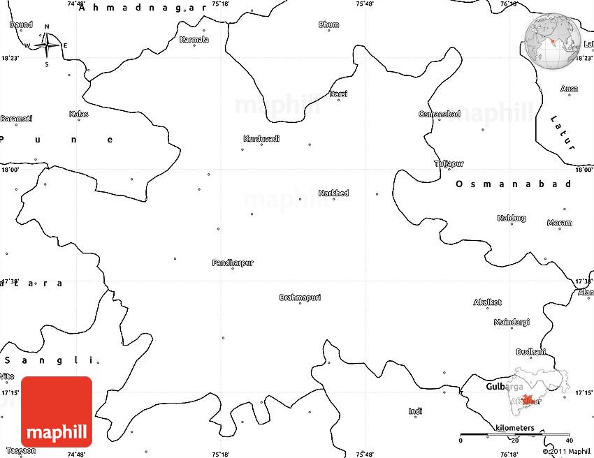 Solapur India  city photo : Blank Simple Map of Solapur
