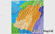 Political Shades 3D Map of Manipur