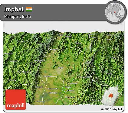 Free Satellite 3d Map Of Imphal