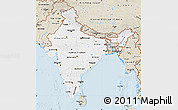 Classic Style Map of India