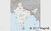 Gray Map of India