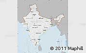 Gray Map of India, single color outside