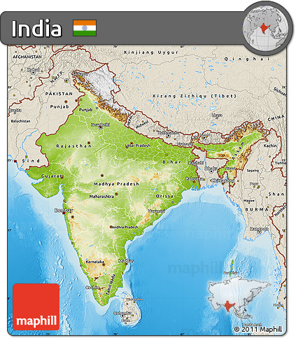 what are relief features of india