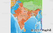 Political Shades Map of India