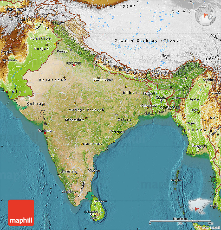 Sattlite Map Of India.Satellite Map Of India Physical Outside Satellite Sea