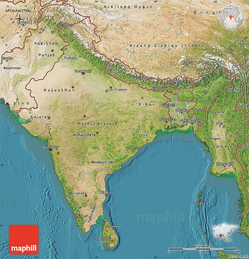 latest satellite map of india Satellite Map Of India latest satellite map of india