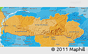 Political Shades 3D Map of Meghalaya