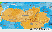 Political Shades Map of Meghalaya
