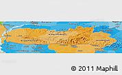 Political Shades Panoramic Map of Meghalaya
