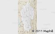Classic Style 3D Map of Mizoram