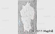 Gray 3D Map of Mizoram