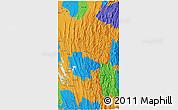 Political 3D Map of Mizoram