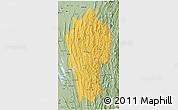 Savanna Style 3D Map of Mizoram