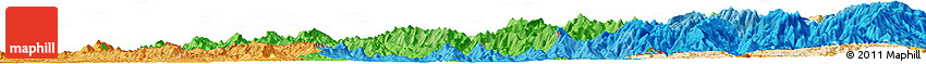 Political Shades Horizon Map of Mizoram