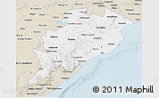 Classic Style 3D Map of Orissa