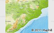 Physical 3D Map of Orissa