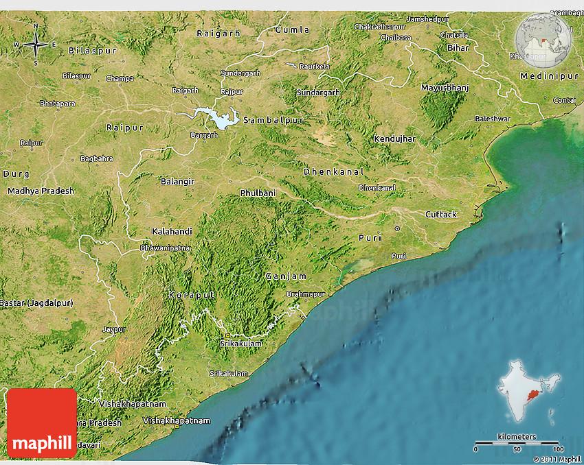 satellite 3d map of orissa
