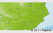 Physical 3D Map of Cuttack