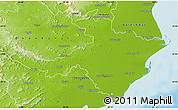 Physical Map of Cuttack
