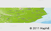 Physical Panoramic Map of Cuttack