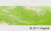 Physical Panoramic Map of Dhenkanal