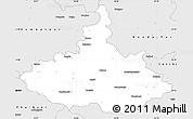 Silver Style Simple Map of Dhenkanal
