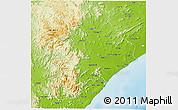 Physical 3D Map of Ganjam