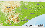 Physical Panoramic Map of Ganjam
