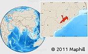 Shaded Relief Location Map of Koraput