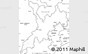 Blank Simple Map of Koraput