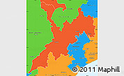 Political Simple Map of Koraput