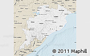 Classic Style Map of Orissa