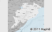 Gray Map of Orissa