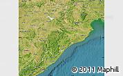 Satellite Map of Orissa