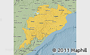 Savanna Style Map of Orissa