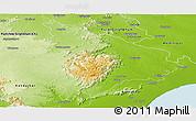 Physical Panoramic Map of Mayurbhanj