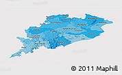 Political Shades Panoramic Map of Orissa, cropped outside