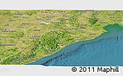 Satellite Panoramic Map of Orissa