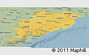 Savanna Style Panoramic Map of Orissa
