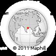 Outline Map of Phulbani