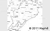 Blank Simple Map of Orissa