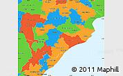 Political Simple Map of Orissa