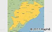 Savanna Style Simple Map of Orissa