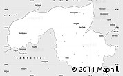 Silver Style Simple Map of Sundargarh